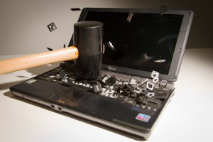 Laptop Repairs (via hammer!)